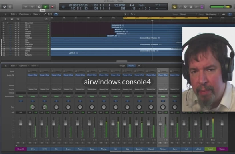 Console 4 free summing plugin by Airwindows released