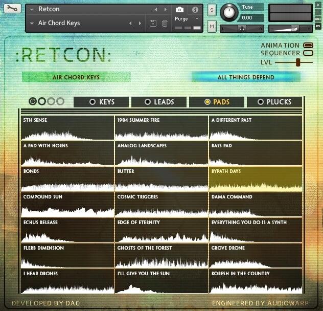 AudioWarp Retcon patches