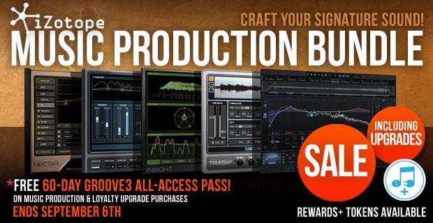 iZotope Music Production Bundle, Ozone 7 & more on sale