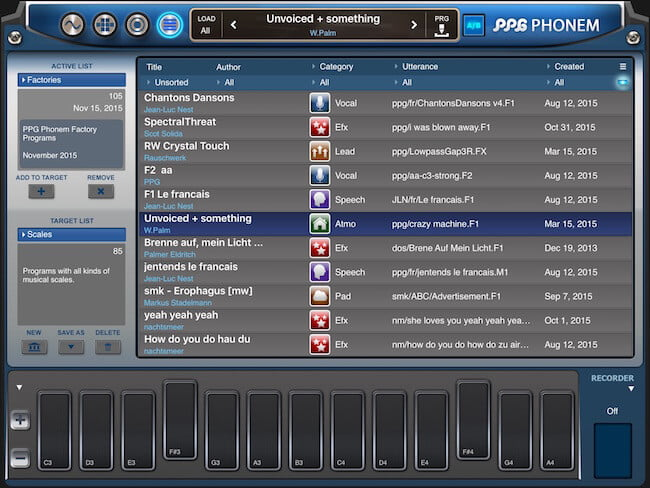 PPG Phonem for iPad 05
