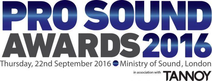 TANNOY Pro Sound Awards 2016