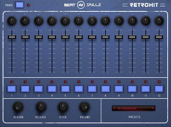 BeatSkillz Retro Hit vintage 80's drum instrument