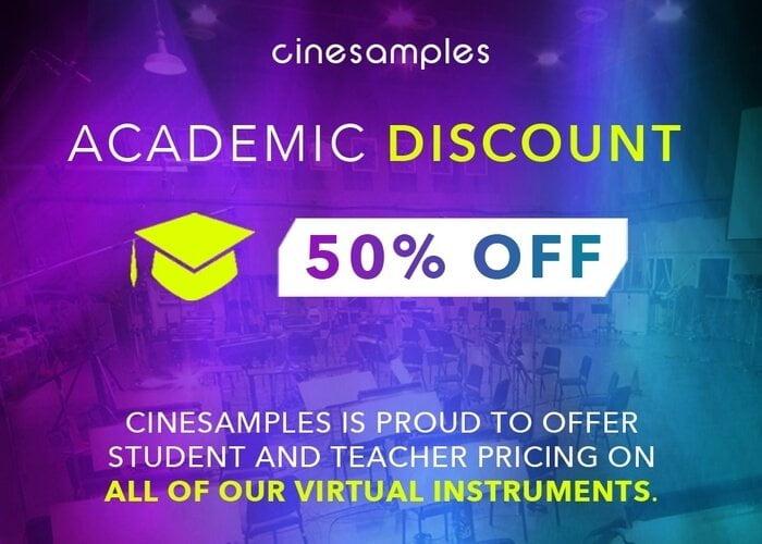 Cinesamples Academic Discount 700