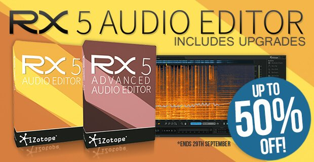 save up to 50 off izotope rx 5 plug in pack post production suite. Black Bedroom Furniture Sets. Home Design Ideas