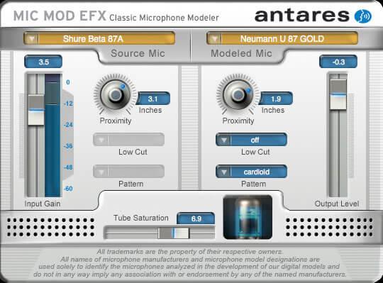 Antares Mic Mod EFX microphone modeler