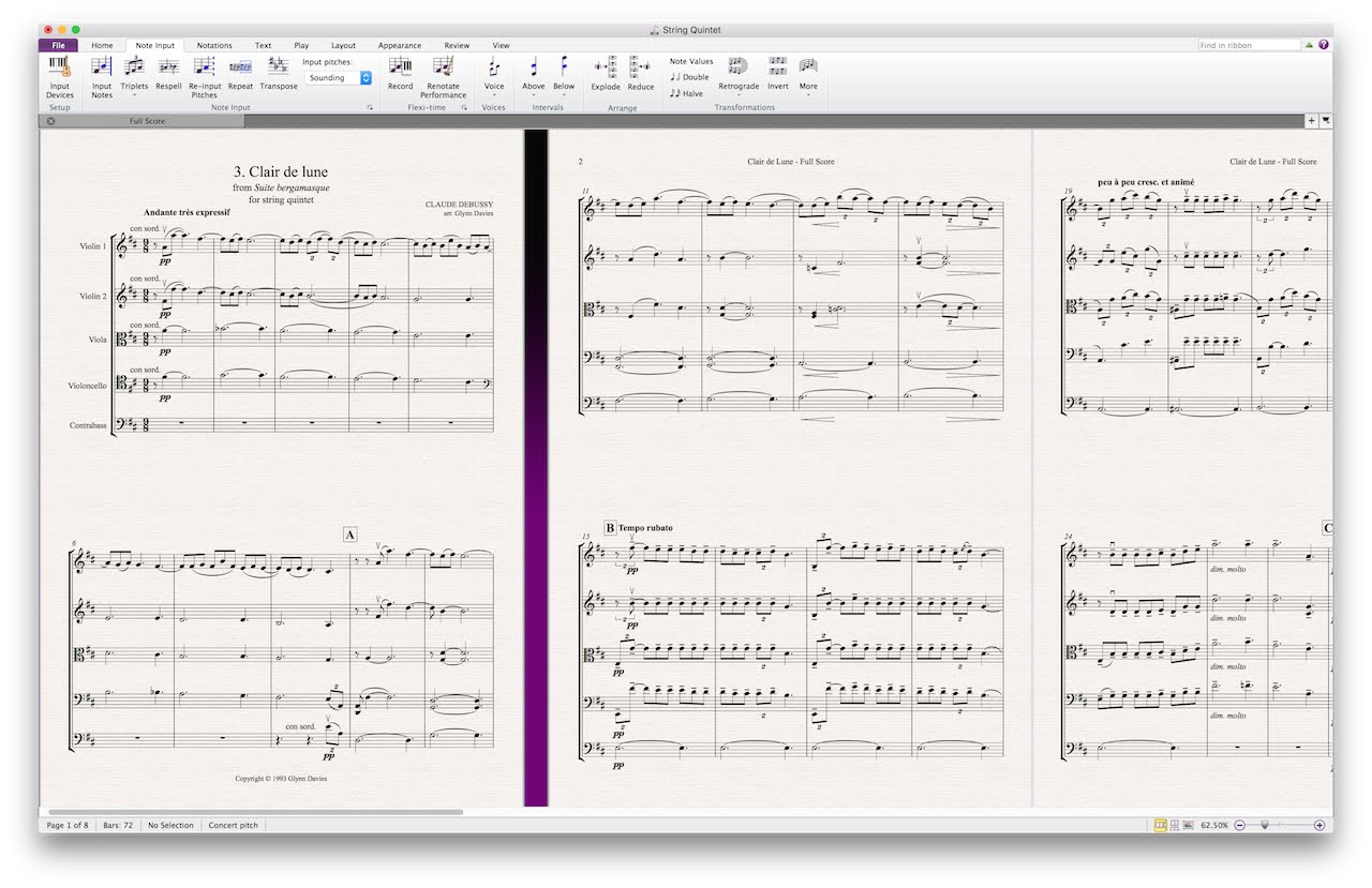 Avid Sibelius | First 8 music notation software released