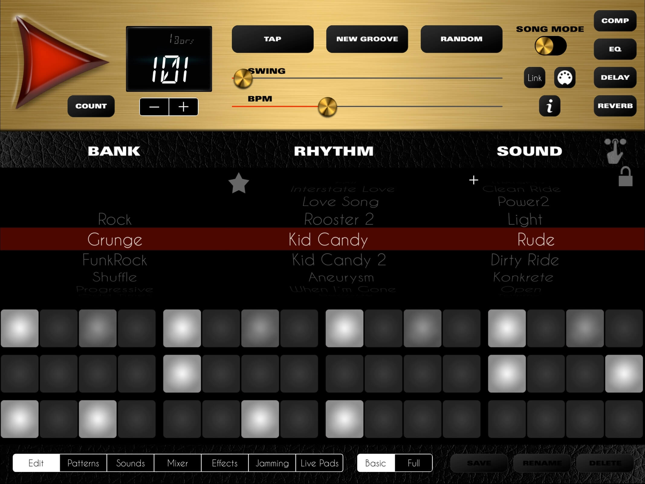 lumbeat rock drum machine 4 session drummer for ios released