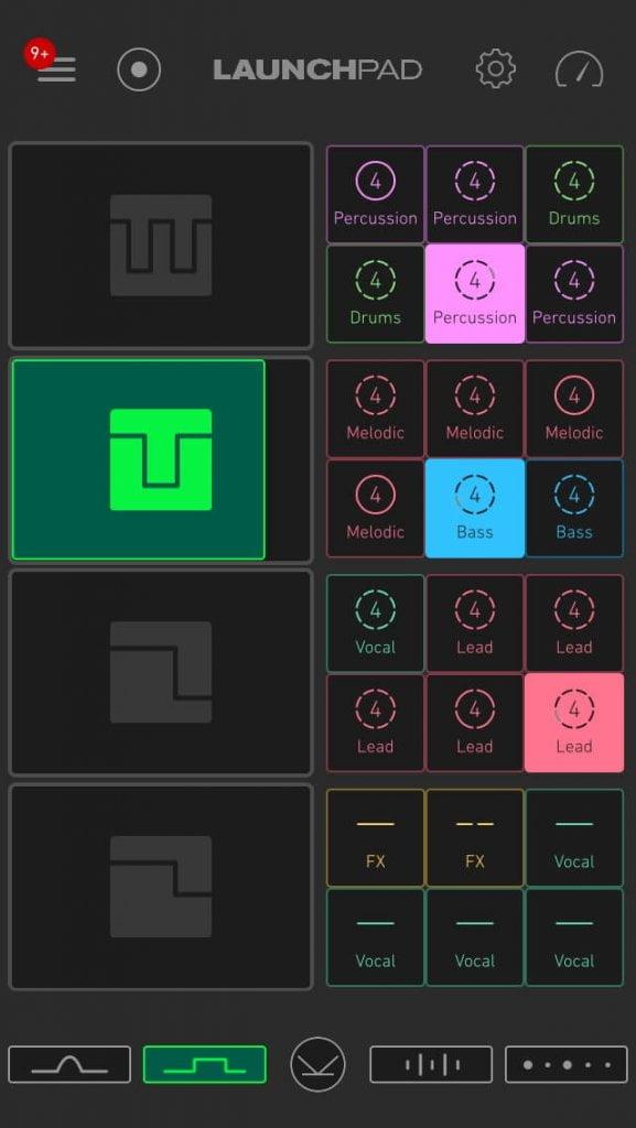 Novation Blocs Launchpad app 4 iPhone screen 2