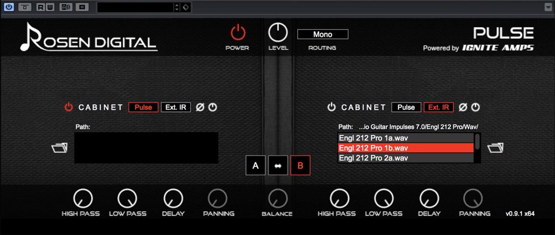Rosen Digital Audio Pulse free IR loader plugin with cab IR