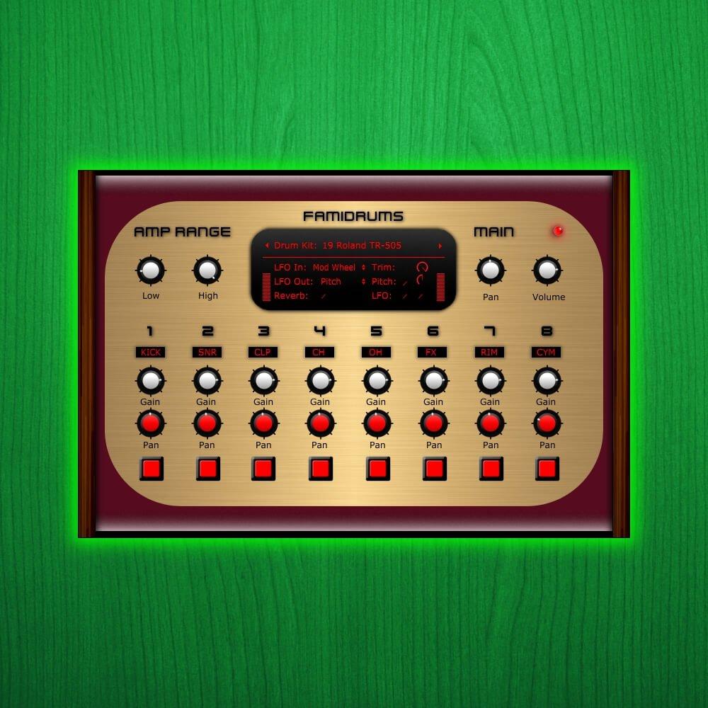famidrums nintendo 8 bit drum machine plugin by samplescience. Black Bedroom Furniture Sets. Home Design Ideas