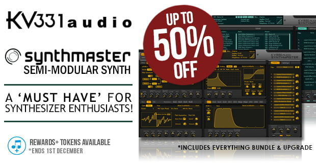 50% off SynthMaster synthesizer plugin & Everything Bundle