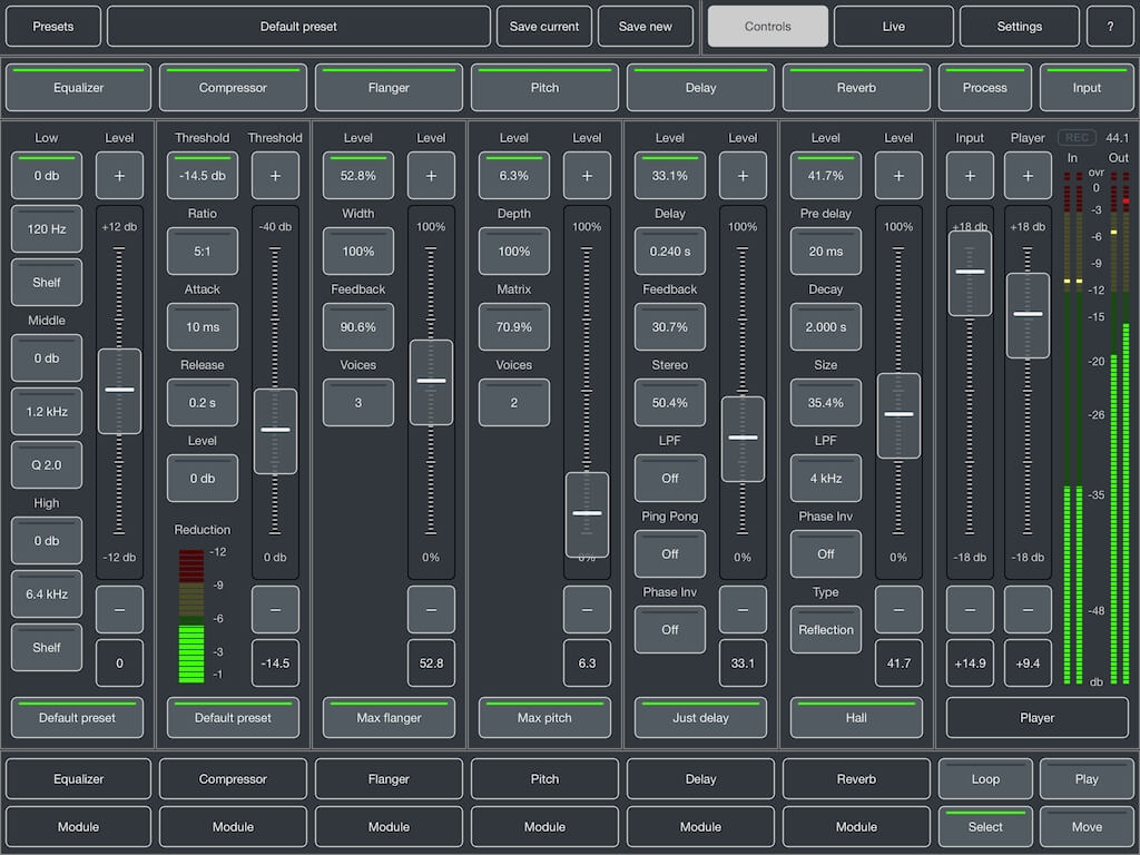 Master FX for iPad app with classic effects updated to v1 6