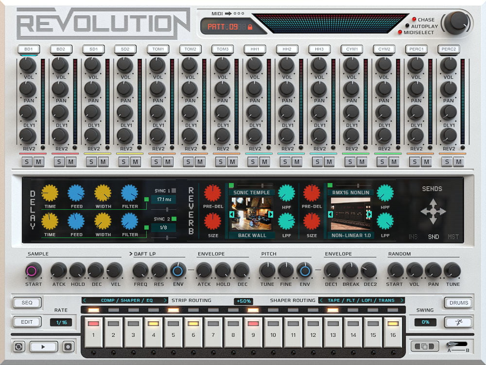 revolution drum machine instrument by wave alchemy introduced. Black Bedroom Furniture Sets. Home Design Ideas