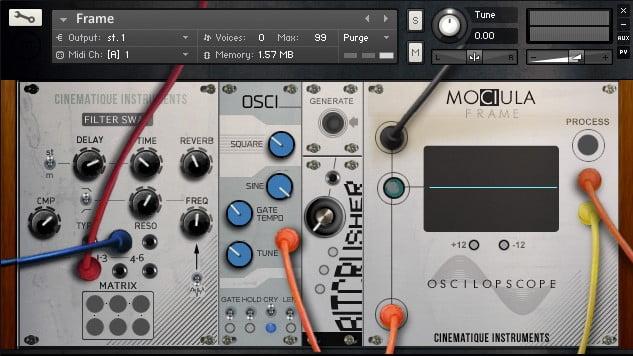 Mociula modular synth instrument bundle for Kontakt released
