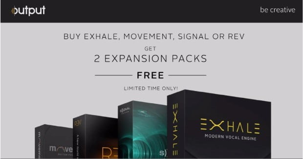 Free Expansion Packs with Output Exhale, Movement, Signal & REV