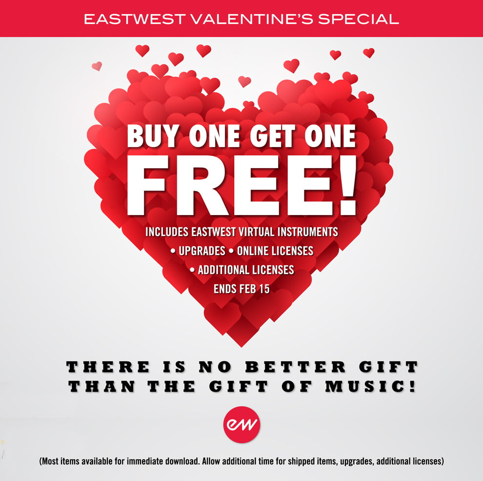 EastWest Valentine's Day Special: Buy One, Get One Free