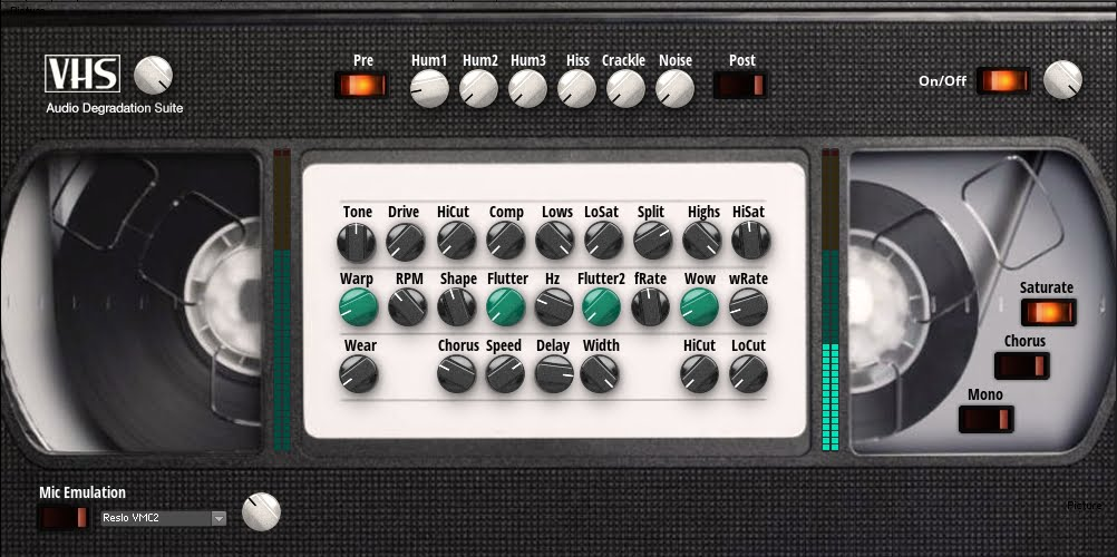 Free VHS tape noise and flutter simulator for Reaktor 6