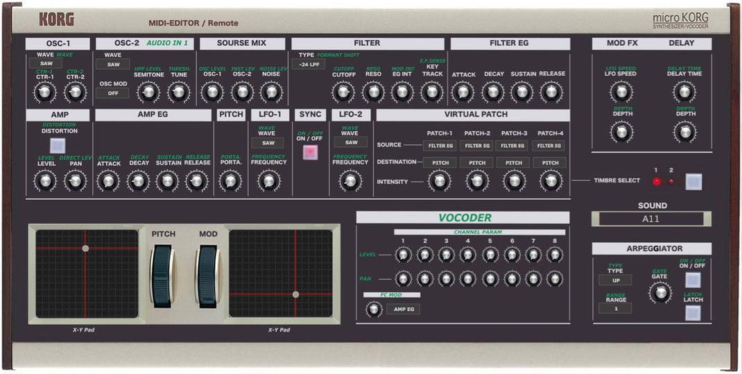 MicroKorg Midi Editor controller plugin by Momo released