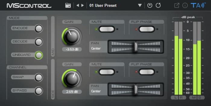 Tek'it Audio MScontrol