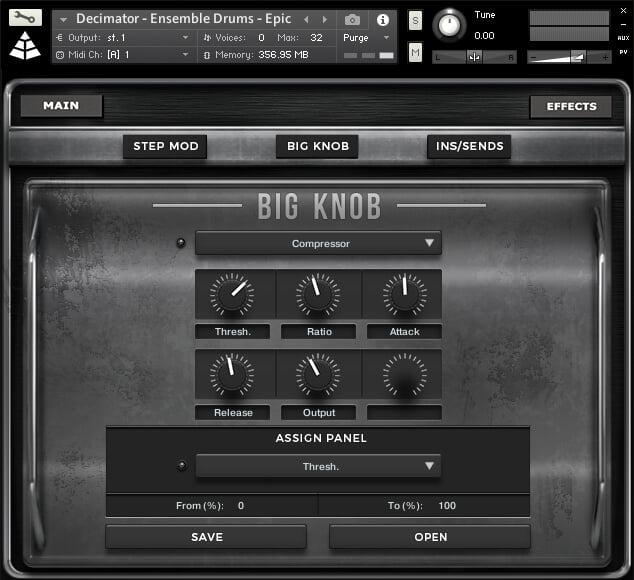 Audio Imperia Decimator Drums compressor