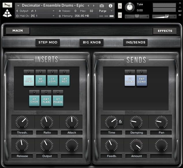 Audio Imperia Decimator Drums effects