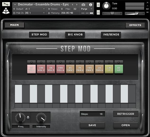 Audio Imperia Decimator Drums step mod