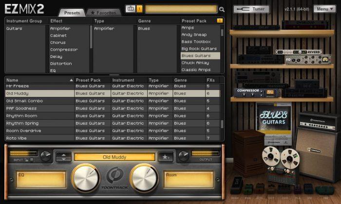 Toontrack Blues Guitars EZmix Pack gui