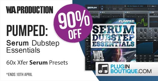 Save 90% off Serum Dubstep Essentials + 30% off Pumper plugin