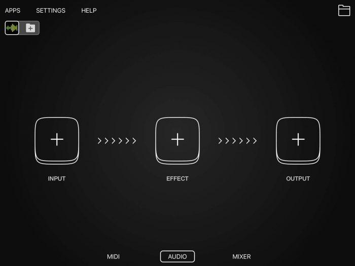 Audiobus Default UI