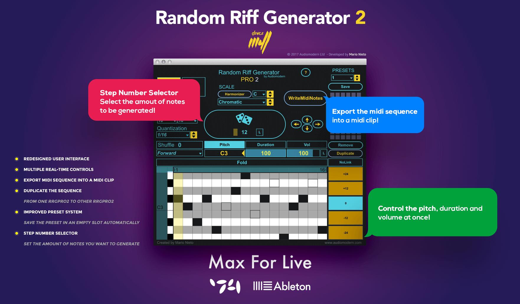 Random Riff Generator Pro 2 MIDI sequence generator released