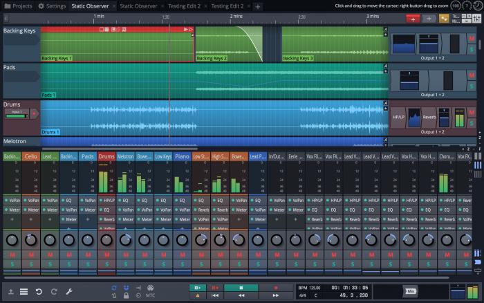 Tracktion Waveform Mixer classic combo screen 2