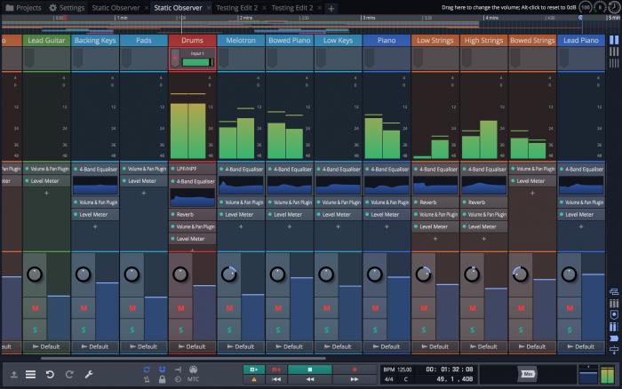 Tracktion Waveform Mixer screen 2