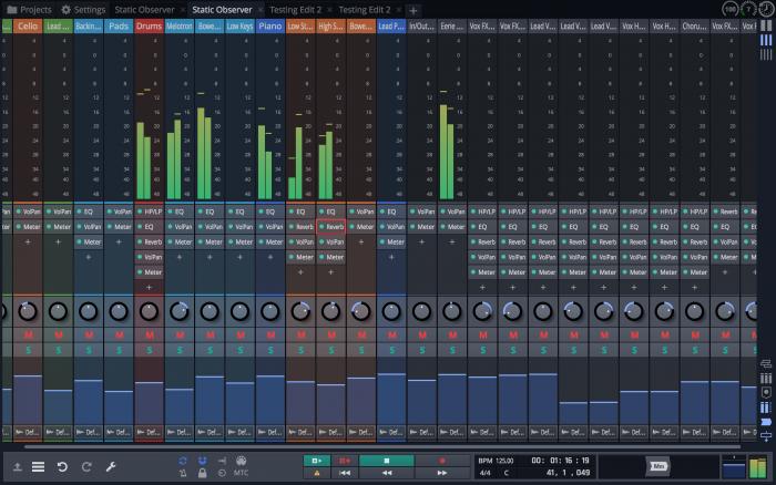 Tracktion Waveform Mixer screen 3