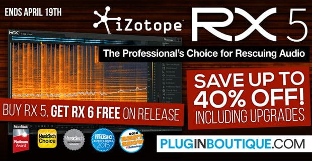 iZotope RX 5 Audio Restoration Suite up to 41% off