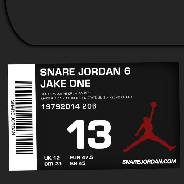 Jake One Snare Jordan Vol. 6