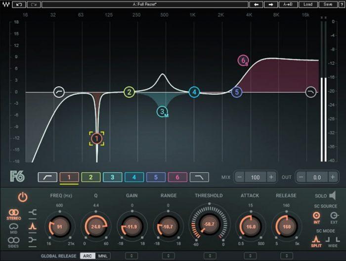 Waves F6 Floating Band Dynamic EQ