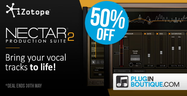 iZotope Nectar 2 Production Suite 50% off for limited time