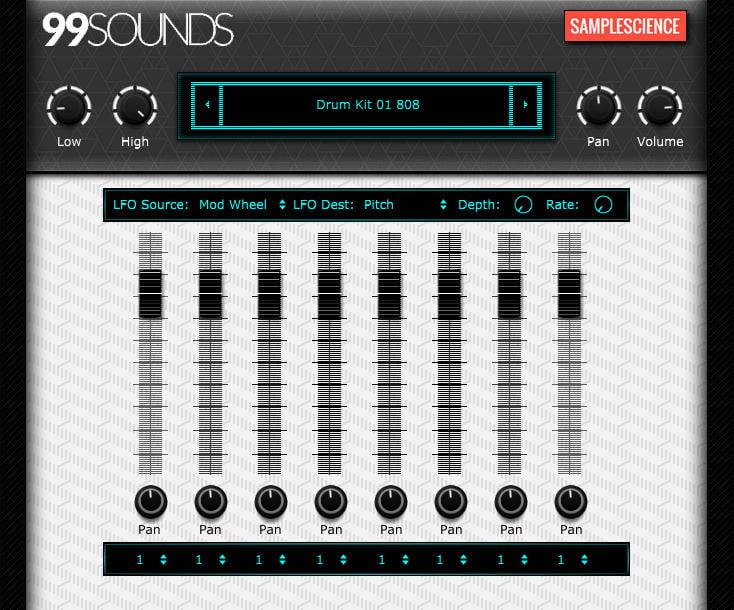 free drum machine rompler plugin by 99sounds samplescience. Black Bedroom Furniture Sets. Home Design Ideas