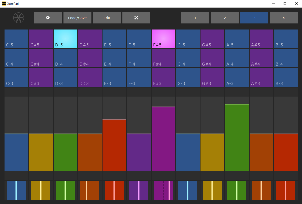 XotoPad MIDI multi-touch controller software for Windows updated