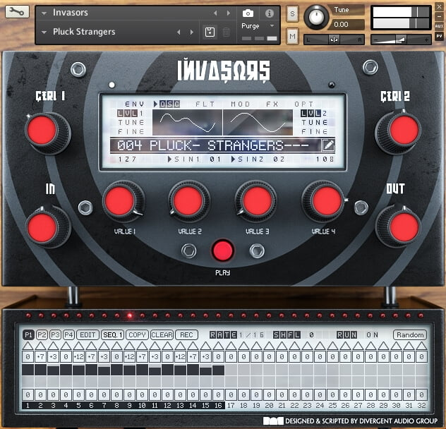 Review of Invasors synthesizer instrument for Kontakt Player