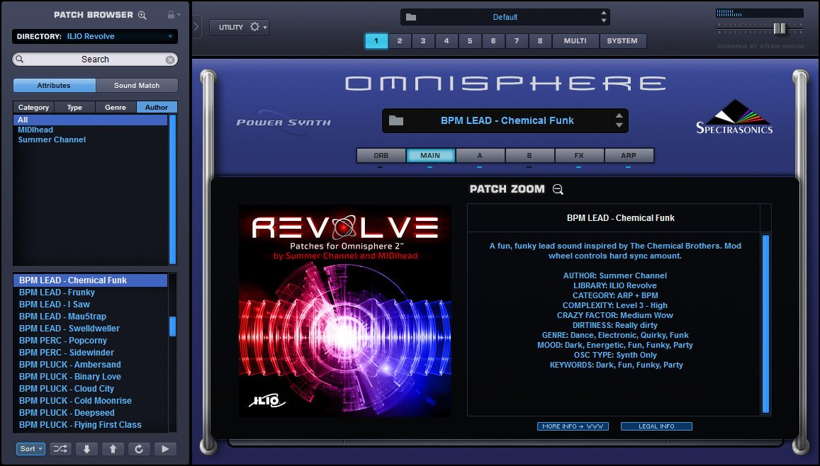 Revolve sound library for Omnisphere 2 released at ILIO