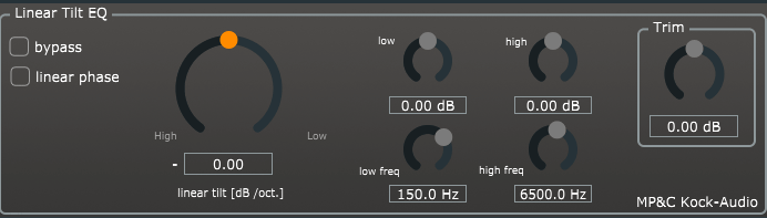 Kock Audio Tilt EQ