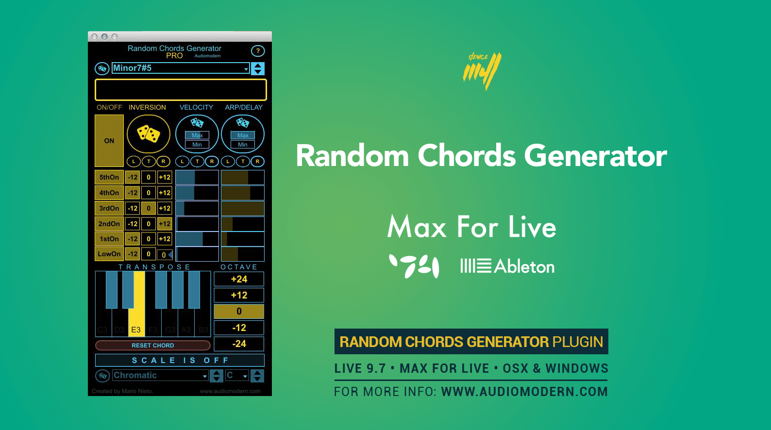 Audiomodern releases Random Chords Generator PRO for Max for