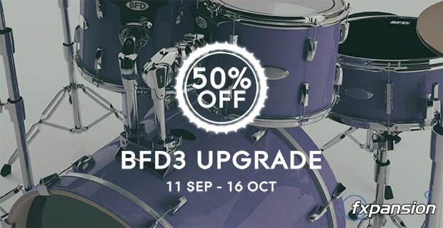 FXpansion BFD3 upgrade 50% off at Plugin Boutique