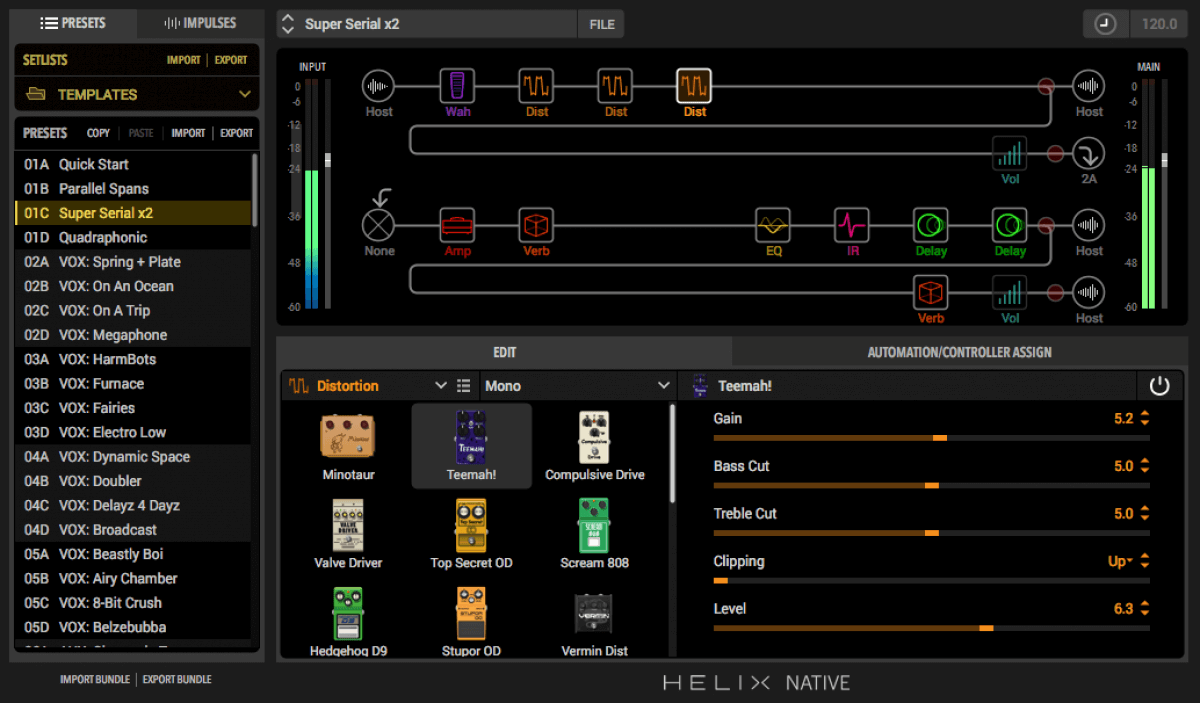 Line 6 updates Helix Native amp & effects modeling plugin to