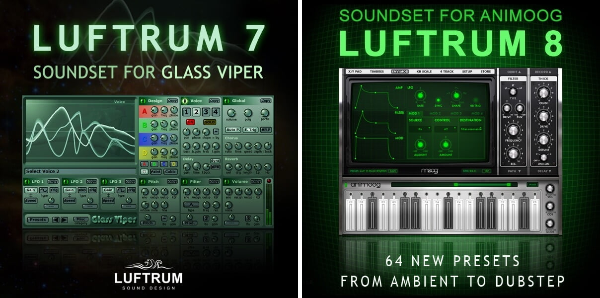 Luftrum 7 for Glass Viper & Luftrum 8 for Animoog now FREE!