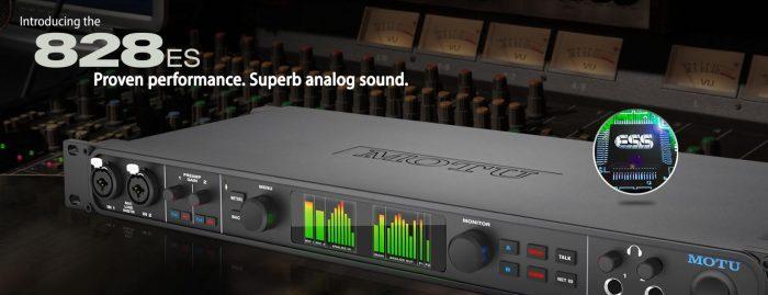 MOTU ships redesigned 828es audio interface