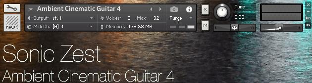 Sonic Zest Ambient Cinematic Guitar 4