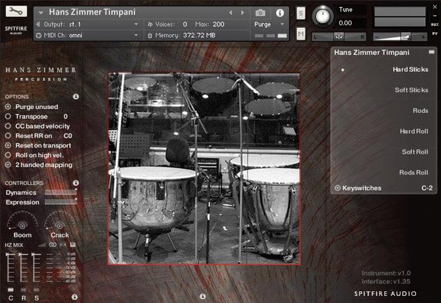 Spitfire Hans Zimmer Percussion Timpani