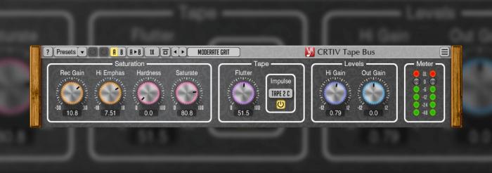 Voxengo updates CRTIV Tape Bus tape saturation plugin to v1 1